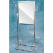 (Chrome) Standing Sign Frame