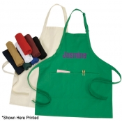 Heavy Duty Full Length Bib Apron W/ 2 Pockets