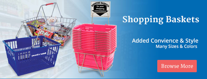 Custom Hand Held Shopping Baskets