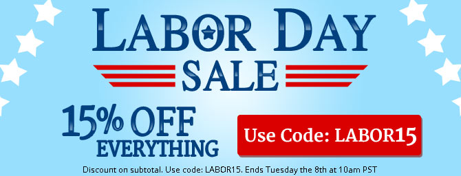 Get 15% OFF all orders with code LABOR15
