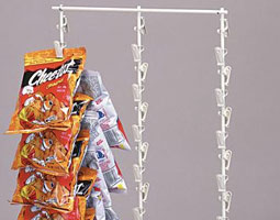 We carry Clipper Racks for all your potato chip and snack merchanising needs