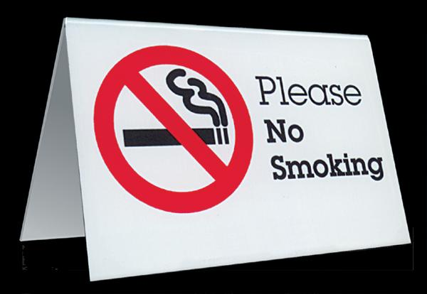 Table Tent Sign No Smoking 10 608 Marquee Category