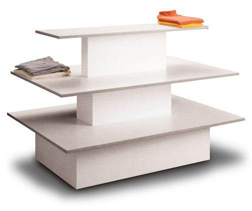 White 3 Tier Display Table