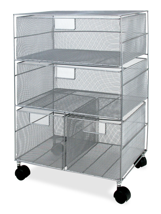 Mobile Wire Mesh Storage Drawer Cart 4 Drawers Tsisupplies Com