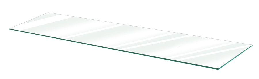 24,36,48 x 10,12 x 3//16 KAZ Clear Tempered Glass Shelves Pack of 5 Select Size