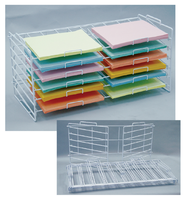 White 12 X 12 Kd Stackable Rack 73 065 Scrapbook And Paper Racks