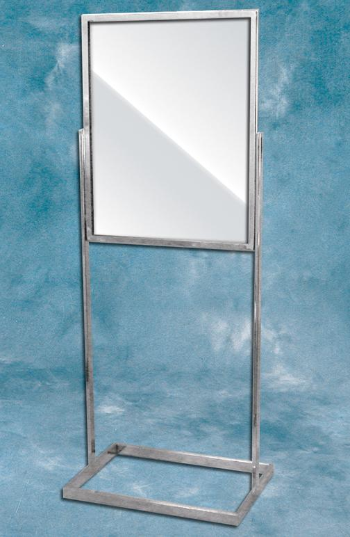 Chrome) Standing Sign Frame, 89-239, General Promotional Items
