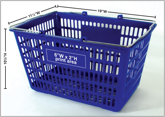 Custom Shopping Baskets Plastic Shopping Baskets 12
