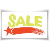 "25"" X 15"" Static Cling ""Sale"" Sign"