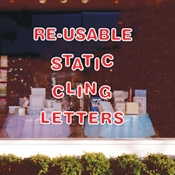 "5"" Reusable Sign Kit (Red/White) 190 Pc."