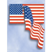 Printed Cloth Usa Flag