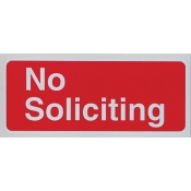 Area Sign-No Soliciting