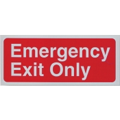 Area Sign-Emergency Exit Only