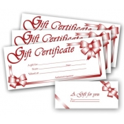 (Red) Gift Certificates (100 Pk)