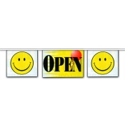 2-Sided Mini Banner Strings (Open/Smiley)
