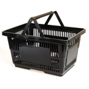 Black Jumbo Shopping Basket with Plastic Handles ( 1 Pc )