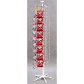 108 Clipper Rack Floor Spinner (White)