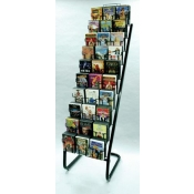(Black) 30 Pocket DVDs Floor Display