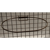 "(Ant. Bronze) 17"" Dia. Grid Mount Basket Ring"