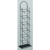 (Black) 6-Tier Tower Hat Rack
