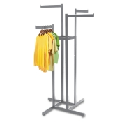 Chrome 4-Way Clothing Rack (4 Straight Arms)