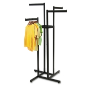 Matte Black 4-Way Clothing Rack (4 Straight Arms)