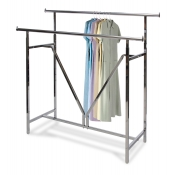 Heavy-Duty Double Rail Clothing Rack