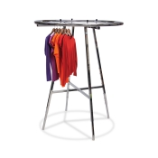 "36"" Round Chrome Clothing Rack"