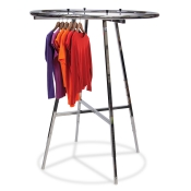 "42"" Round Chrome Clothing Rack"