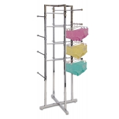 Folding Apparel Tower Rack (16 Straight Arms)