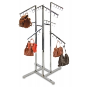 4-Way Hand Bag Rack (8 Slant Arms, 40 Hooks)