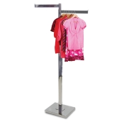 Chrome 2-Way Clothing Rack (2 Straight Arms)
