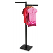 Matte Black 2-Way Clothing Rack (2 Straight Arms)