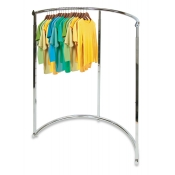 Half-Round Chrome Clothing Rack