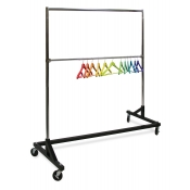 "Heavy Duty ""Z"" Rolling Clothing Rack"