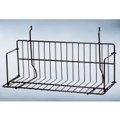 "(Black) Slatwall-18"" Standard Shelf"