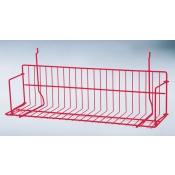 "(Red) Slatwall-24"" Standard Shelf"