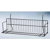 "(Black) Slatwall 24"" Standard Shelf"