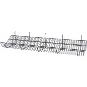 "(Black) Grid-24"" Slanted Shelf"