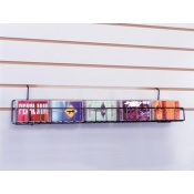 "(Black) Slat 24"" Audio Cassette Shelf"