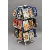 (White) 24 Pocket DVDs Counter Spinner