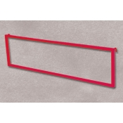 (Red) Grid Mount Sign Frame W/ Hooks