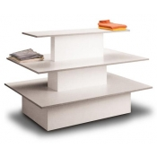 (White) 3-Tier Display Table
