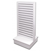 "(White) 24"" Slatwall Steamline Display"