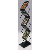 (Black) Quick-Fold Literature Display - Zig-Zag