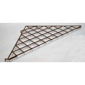 (Ant. Bronze) Triangular Grid Shelf