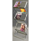 (Silver) Decora Literature Stand- Double