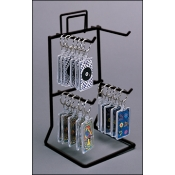 "4-Peg 8.5"" Tall Counter Rack (Black)"