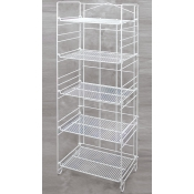(White) 5-Tier Adjustable Merchandiser