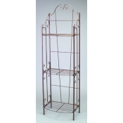 "(Bronze tone) 60""H 3-Tier Decorative Rack"